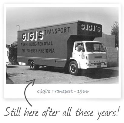 A 1966 Gigi's Removals truck